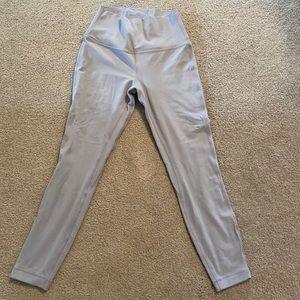Size 6 Dark Chrome Lululemon align leggings